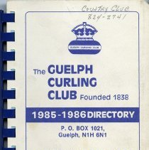 Image of The Guelph Curling Club 1985-1986 Directory