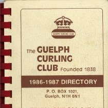 Image of The Guelph Curling Club 1986-1987 Directory