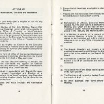 Image of Article VIII - Nominations, Elections and Installation, pp.18-19