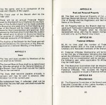 Image of Dues; Real & Personal Property; Fraternal Affiliates; Miscellaneous