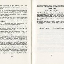 Image of Article XV, Effective Date of By-Laws, p.27