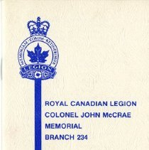 Image of Royal Canadian Legion, John McCrae Branch, By-Laws and House Rules, 1979