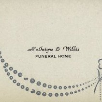 Image of Business Card, McIntyre & Wilkie Funeral Home