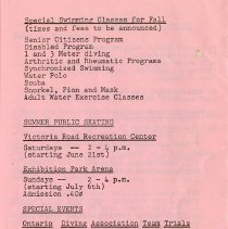 Image of Special Swimming Classes for Fall, p.8