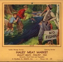 Image of Advertising Calendar, Hales Meat Market