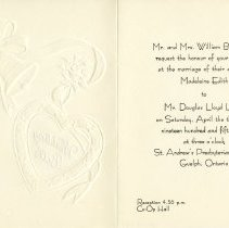 Image of .1 Wedding Invitation, April 13, 1957