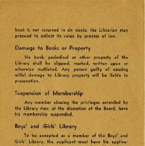 Image of .1 - Back Cover of Rules and Regulations