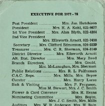 Image of Executive for 1977-78, Standing Committee Convenors