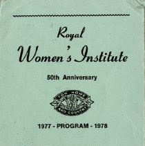 Image of Royal Women's Institute 50th Anniversary Annual Program