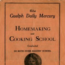 Image of Program, Homemaking and Cooking School, 1932