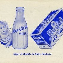 Image of Royal Dairy Brochure, Back Cover