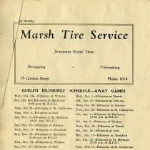 Image of Guelph Biltmores' Schedule - Away Games, p.20