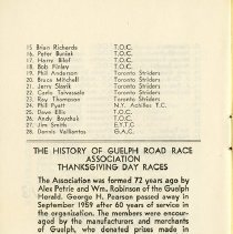 Image of The History of Guelph Road Race Association; In Memoriam, p.8