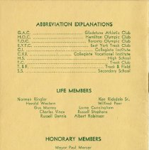 Image of Life & Honorary Members; Committee Chairmen; Thanks, back cover