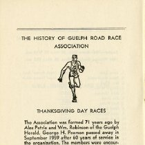 Image of History of Guelph Road Race Association Thanksgiving Day Races, p.12