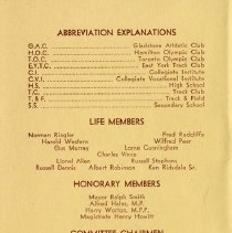 Image of Life & Honorary Members; Committee Chairmen, back cover