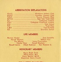 Image of Abbreviations; Life & Honorary Members; Committee Chairmen