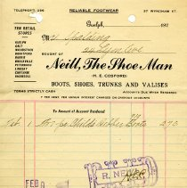 Image of Receipt from Neill, The Shoe Man