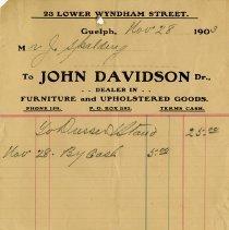 Image of Statement, John Davidson Furniture and Upholstered Goods, 1903