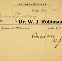 Image of Receipt from Dr. W.J. Robinson, 1904