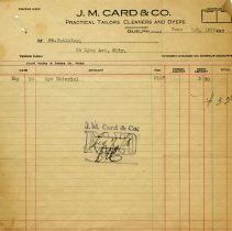 Image of Statement, J. M Card & Co., 1928