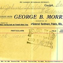 Image of Receipt from George B. Morris Hardware, 1902