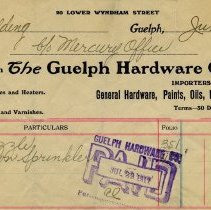 Image of Statement from Guelph Hardware Co., Limited, 1912