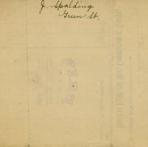 "Image of Back of Receipt, ""J. Spalding, Green St."""