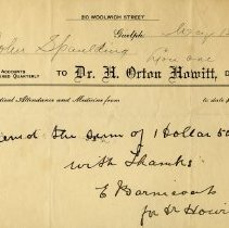 Image of Receipt from Dr. H. Orton Howitt, 1911