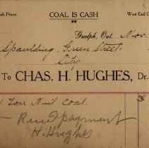 Image of Receipt, Chas. H. Hughes, Coal Dealer, 1905