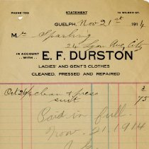 Image of Receipt, E.F. Durston,  1914