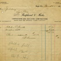 Image of Receipt from Shepherd & Hicks, 1913