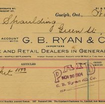 Image of Receipt from G. B. Ryan & Co., 1904
