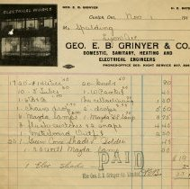 Image of Statement, Geo. E. B. Grinyer & Co., 1913