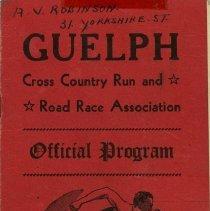 Image of Guelph Cross Country Run & Road Association Program, 1948