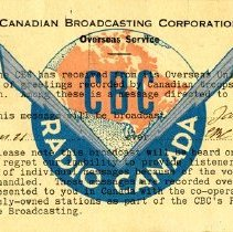 Image of CBC Overseas Service, Front