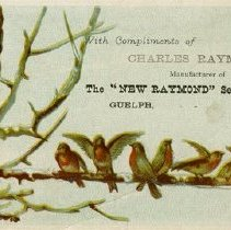 "Image of Advertising Card for the ""New Raymond"" Sewing Machine"