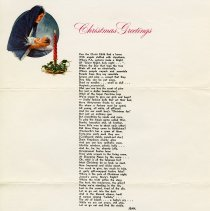 Image of .1 Christmas Letter & Poem from Flora and Jean Little, 1968