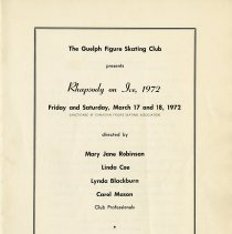 Image of Souvenir Program, Rhapsody on Ice, March 17 & 18, 1972, p.1