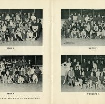 Image of Photographs of Classes, Junior A-C, Intermediate A, pp.6-7