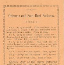 Image of Page 10, Ottoman and Foot-Rest Patterns, R. W. Ross