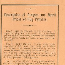 Image of Page 7, Description of Designs and Retail Prices of Rug Patterns