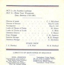 Image of OAC Philharmonic Iolanthe 1934