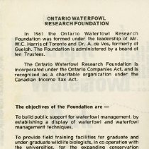 Image of Ontario Waterfowl Research Foundation, panel 3