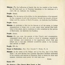 Image of Order of Service (continued), p.2