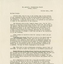 Image of .2 Letter to Congregation from Rev. K.G. Macmillan