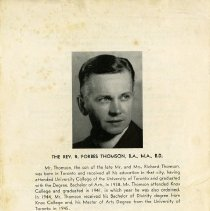 Image of Brief Biography of Rev. R. Forbes Thomson