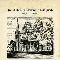 Image of St. Andrew's Presbyterian Church Program, 1957