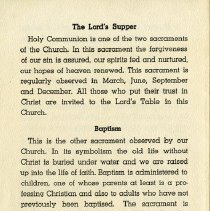 Image of Communion; Baptism; Church Library, back cover