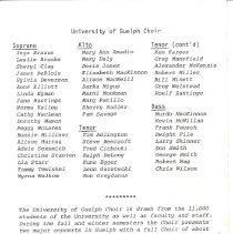 Image of U of G Choir Tour 1978 pg 6